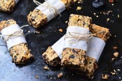 Barres de granola délicieuses image stock
