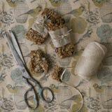 Barres de granola faites maison, biscuit à l'avoine photographie stock