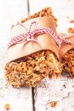 Barres de granola faites maison de protéine photographie stock