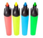 Barres de mise en valeur colorées Photographie stock libre de droits