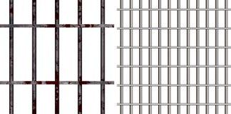 Barres de prison Images libres de droits