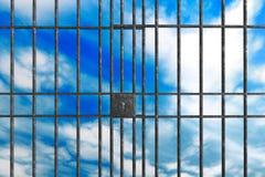 Barres de prison en métal Images stock