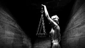 Barres de prison et un rendu du couloir 3d Image stock