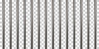 Barres de prison sur transparent illustration stock