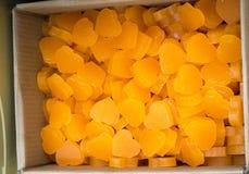Barres de savon sous forme de coeur coloré Image libre de droits