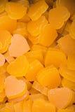 Barres de savon sous forme de coeur coloré Photographie stock libre de droits