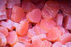 Barres de savon sous forme de coeur coloré Photo libre de droits