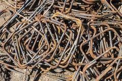Barres en acier de renfort Image libre de droits