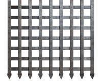 Barres médiévales en métal d'isolement Photographie stock libre de droits