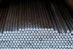 Barres rondes en métal Photos libres de droits