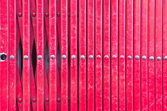 Barres rouges en métal Photos stock