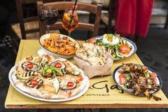 Barrestaurant in Rome, Italië Royalty-vrije Stock Foto's