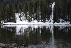Barrett Lake. Mammoth Lakes area of California, May 2014 Royalty Free Stock Photo