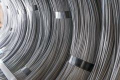 Barretta del filo di acciaio - bobine dell'acciaio Fotografie Stock