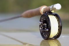 Barretta di pesca con la mosca per il luccio fotografie stock libere da diritti