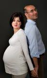 Barretta incinta della traversa delle coppie Immagini Stock