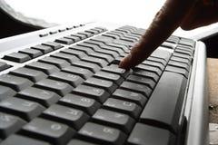 Barrette sulla tastiera Fotografie Stock Libere da Diritti