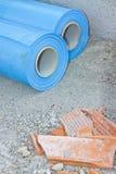 Barriär för polyetylenskyddsdunst som begränsar passagenollan Royaltyfri Fotografi