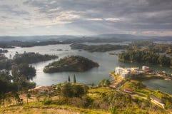 Barriär sjö i Antioquia Arkivfoto