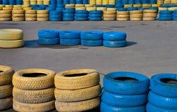 barriär som carting spåret Fotografering för Bildbyråer