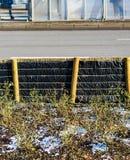 Barriär vid en gata royaltyfri foto