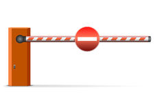 barriärbil Arkivbild