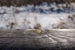 Barrière étroite avec le grain en bois Photo libre de droits
