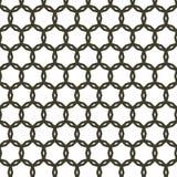 Barrière abstraite arrondie sans couture noire Pattern Background Texture Photo stock