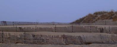 Barrière au parc d'état de Muskegon Photographie stock libre de droits
