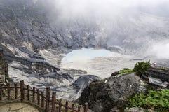 Barrière au volcan Image libre de droits