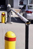 Barrière automatique pour se garer Image libre de droits