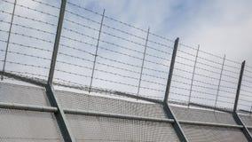 Barrière autour de secteur restreint Photo libre de droits