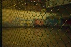 Barrière autour de terrain de jeu, Ostende, Belgique Photo libre de droits