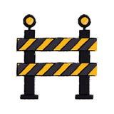 Barrière beperkte het ontwerptekening van de straatstreep vector illustratie