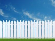 Barrière blanche illustration libre de droits