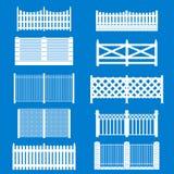 Barrière blanche Icon Set de silhouette Vecteur Photos libres de droits