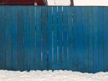 Barrière bleue en bois Fond en bois bleu de texture venant de l'arbre naturel Panneau en bois avec de beaux modèles photos stock