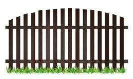Barrière brune en bois Photos libres de droits