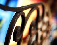 Barrière colorée abstraite de fer Photographie stock