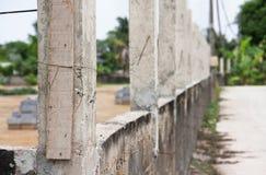 Barrière concrète de poteau de rénovation Photo stock