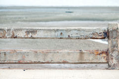 Barrière concrète et plancher en béton Photographie stock