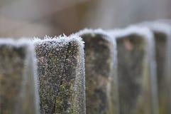 Barrière congelée Photos libres de droits