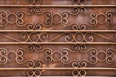 Barrière décorative de fer travaillé Image libre de droits