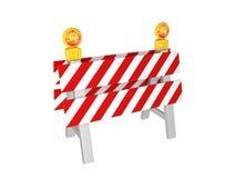 Barrière 3d de route illustration libre de droits