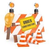 barrière 3D en construction Images stock