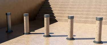 Barrière d'escaliers Photo libre de droits