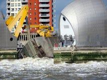 Barrière d'inondation de la Tamise image libre de droits
