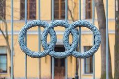Barrière d'ornamental de fer travaillé Photos libres de droits