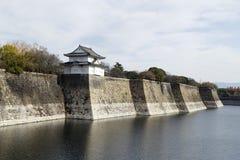 Barrière d'Osaka Castle Images libres de droits