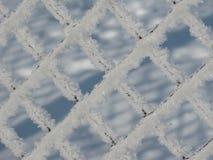 Barrière dans la neige Photos libres de droits